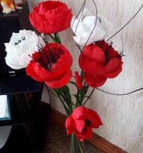 Цветы для интерьера на заказ🌺(ручная работа)