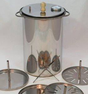 Вертикальная коптильня с гидрозатвором 20 л.