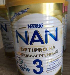 Нан оптипро гипоаллергенный 3 (детское молочко)