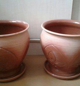 Цветочные горшки керамические