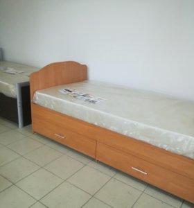 Кровати ящиками и ребром жесткости