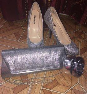 Туфли+сумка+браслеты
