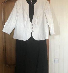 Костюм пиджак с платьем