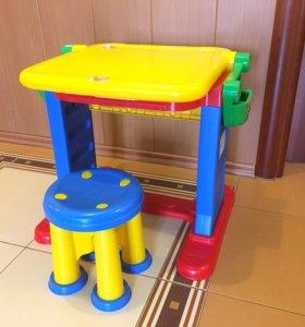 Столик-мольберт детский для творчества