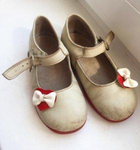 Детские туфли, натуральная кожа