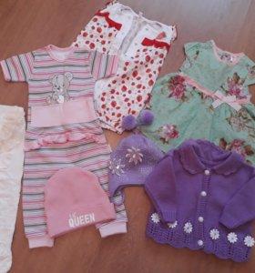 Одежда для девочки весна-лето пакетом