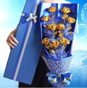 Букет золотых роз