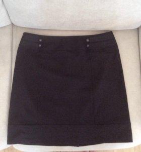Чёрная мини юбка (46-48)