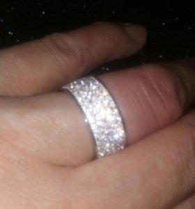 Кольцо, бижутерия, кристаллы сваровски