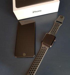 iPhone 7 128g. и Apple Watch S3 sport