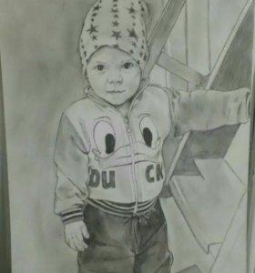 Портреты карандашом на заказ,по фото