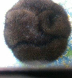 Норковая мужская шапка