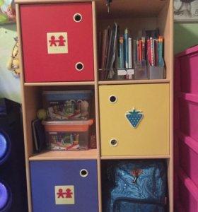 Шкаф для игрушек и книг