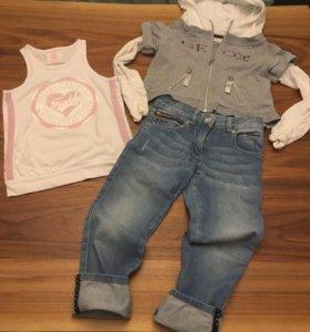 Олимпийка, джинсы (GEOX) / майка (FREDDY TRAINING)