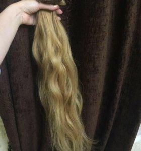 Натуралтные волосы на заколочках