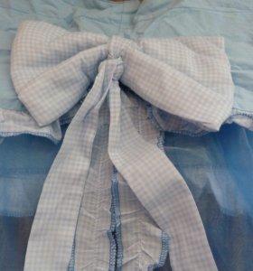 Балдахин на детскую кроватку и пеленальный матрас