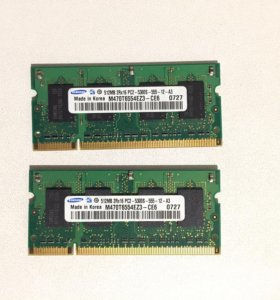 Оперативная память на ноутбук DDR 2 800 MHz 2 x512