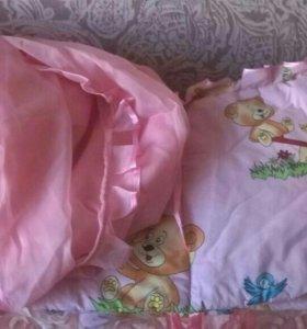 Детский балдахин с бортиками в кроватку