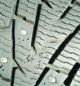 Колеса шипы r17 toyota 4шт (диски+шины)