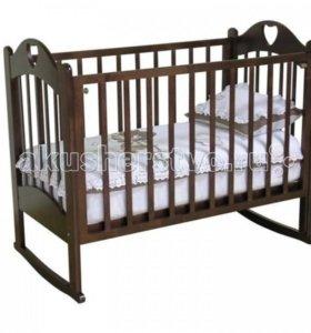 Кроватка детская любаша+бортики+матрас