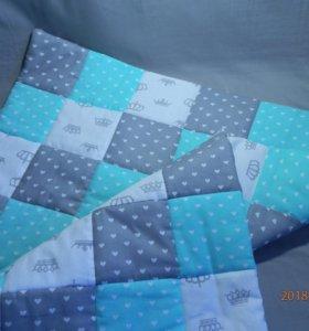 Лоскутное детское одеялко