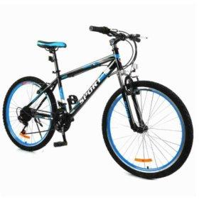 Велосипед в двух цветах