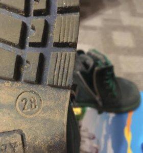Ботинки весна-осень 28 размер