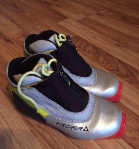 Лыжные ботинки Fisher 33 размер с креплениями