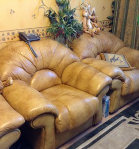 Комплект мягкой кожанной мебели