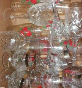 Фужеры вазы салатницы хрусталь