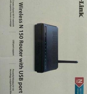 Роутер D-link N150 dir 320 ADSL (+USB)