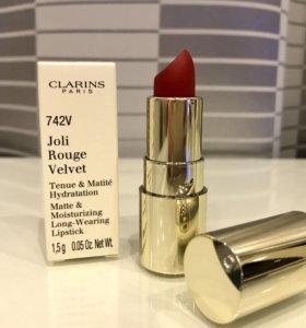 Clarins Joli Rouge Velvet матовая губная помада