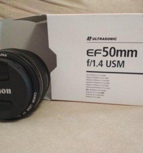 Продам новый объектив Canon ef50mm f/1.4