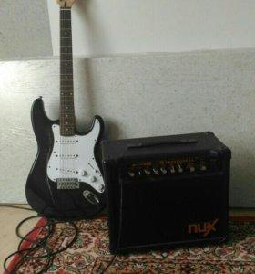 Электро гитара Phil pro + комбоусилитель.