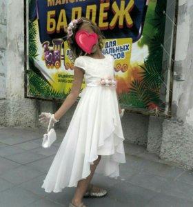 Платье для девочки нарядное 117-122