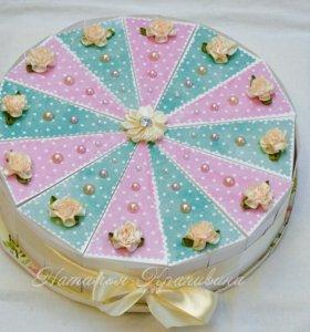 Бумажный торт с сюрпризами