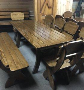Мебель из массива дерева в беседку,веранду«Сказка»