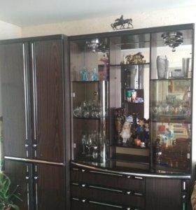 Стенка из 4 шкафов и угловой пристаки