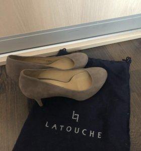 Туфли замша. 38 размер.