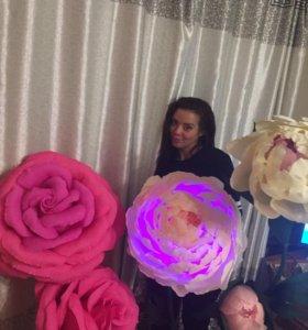 Цветочные торшеры на заказ