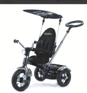 Трёхколесный велосипед icon c надувными колесами.