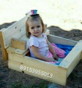 Мини детская песочница