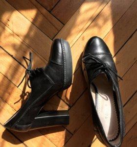 Туфли полуботинки натуральная кожа