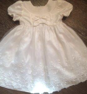 Платье(белое), 2-3 года