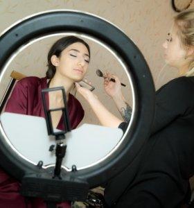 Кольцевая лампа для макияжа для профи