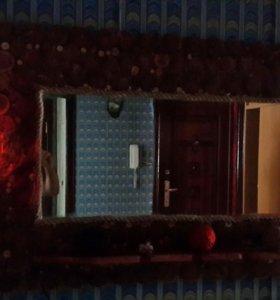 Зеркало изспилов с подсветкой 150 на 80