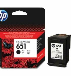 Картридж HP 651 черный