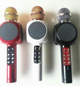 Караоке микрофон с подсветкой WSTER WS-1816 blueto