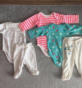 Детские вещи для девочки (пакетом) размер 56-62