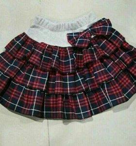 Новая юбка в складочку. На рост 86